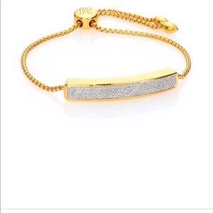 Monica Vinader 18K gold plated diamond bracelet